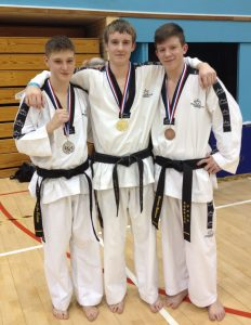Kyle Foster Sam O'Neill Connor Redman MartialArts4Fun TAGB South West Championships Sport South Devon