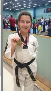 Shawna Shows off her Gold from March's TAGB English Championships