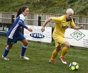 hayley chamberlain buckland athletic ladies v plympton ladies